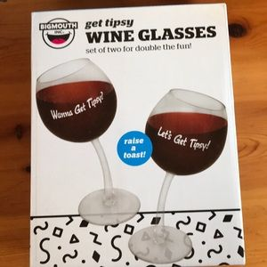 New Fun Get Tipsy Wine 🍷 Glasses - Raise a Toast!